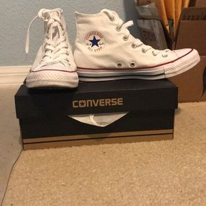 White Chuck Taylor Converse All Star High Tops